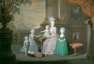 Queen Maria Carolina and her children overlooking Naples