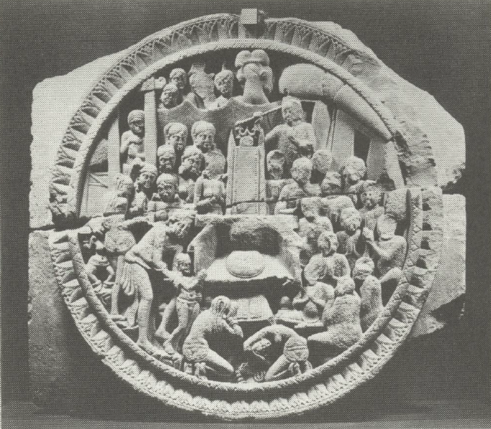 Rāhula seeing the Buddha