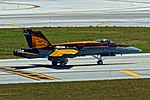 """RCAF CF-18 Demo Hornet """"BCATP"""" at the 2016 Fort Lauderdale Air Show.jpg"""