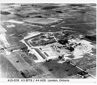 London International Airport - Image: RCAF Crumlin Aerial View 1940s