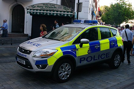 Royal Gibraltar Police car, 2012 RGP Patrol Car.JPG