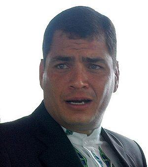 2010 Ecuador crisis - Image: Rafael Correa presidenciagovar 15ENE07