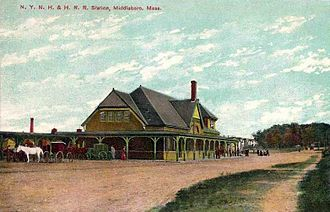 Middleborough, Massachusetts - Railroad station c. 1908