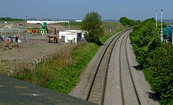 Railway line at Maybury (geograph 2401743).jpg