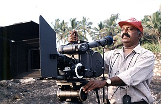 Arri - Indian cinematographer Ramachandra Babu with Arriflex 535B camera