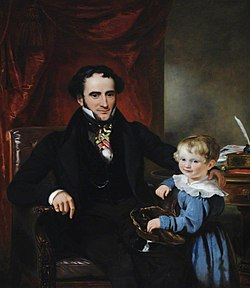 Ramsay Richard Reinagle (1775-1862) - Sir George Crewe (1795–1844), 8th Bt, and His Son, Later Sir John Harpur Crewe, 9th Bt (1824–1886) - 290438 - National Trust.jpg
