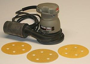 Sander - A random orbit sander, with disks of various grit sizes