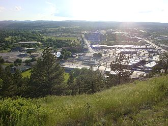 Rapid City, South Dakota - View of city facing the west.