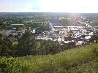 Rapid City, South Dakota - View of city facing the west.