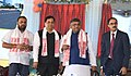 Ravi Shankar Prasad, the Chief Minister of Assam, Shri Sarbananda Sonowal, the State Minister for Water Resources & IT, Shri Keshab Mahanta and the Secretary, Ministry of Electronics & Information Technology.JPG