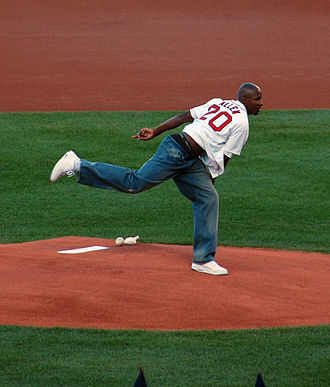 2007–08 Boston Celtics season - Shortly after being traded to the Celtics, Ray Allen threw out the first pitch for a baseball game at Fenway Park, home of the Boston Red Sox of Major League Baseball.