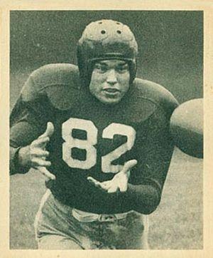 Ray Poole - Poole on a 1948 Bowman football card