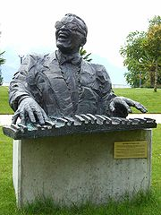 Ray Charles monument (Montreux, Switzerland)