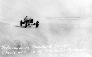 Land speed record - Ralph DePalma in his Packard '905' Special at Daytona Beach in 1919