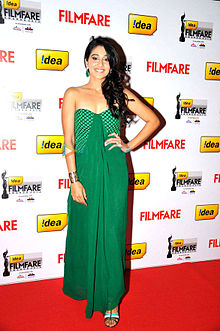 Regina Cassandra at 60th South Filmfare Awards 2013.jpg