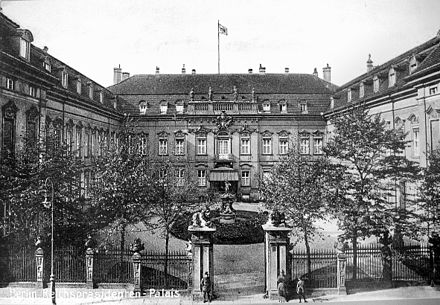 The Presidential Palace (Reichsprasidentenpalais) at the Wilhelmstrasse in Berlin. Reichsprasidentenpalais, Berlin.jpg