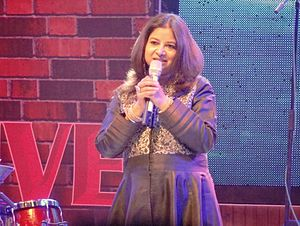Rekha Bhardwaj performing at Alive India in Concert - Season 2, Phoenix Marketcity. Bangalore.JPG