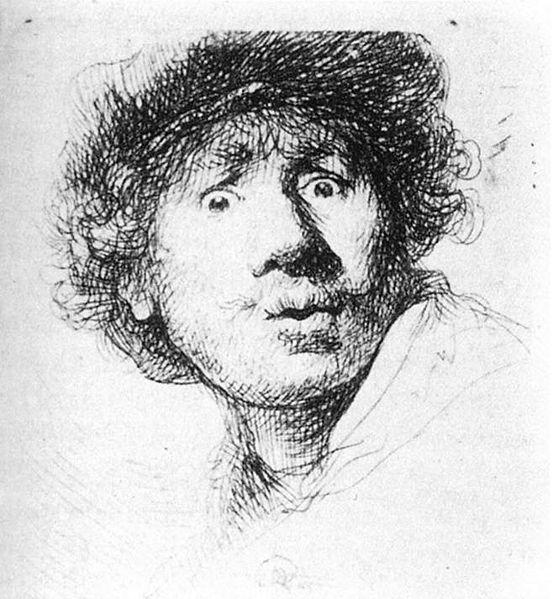 File:Rembrandt - Self-Portrait, Staring - WGA19083.jpg