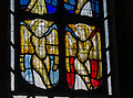 Reset 15th century glass, Lydlinch Church.jpg