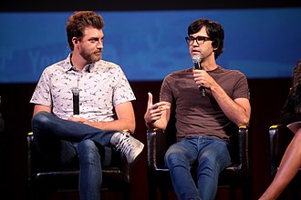 Rhett and Link - Rhett (left) and Link (right) at VidCon 2014