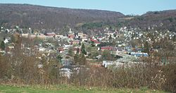 Ridgway from Elk County Country Club, April 2010