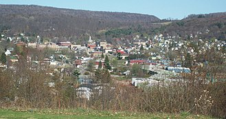 Ridgway, Pennsylvania - Ridgway from Elk County Country Club, April 2010