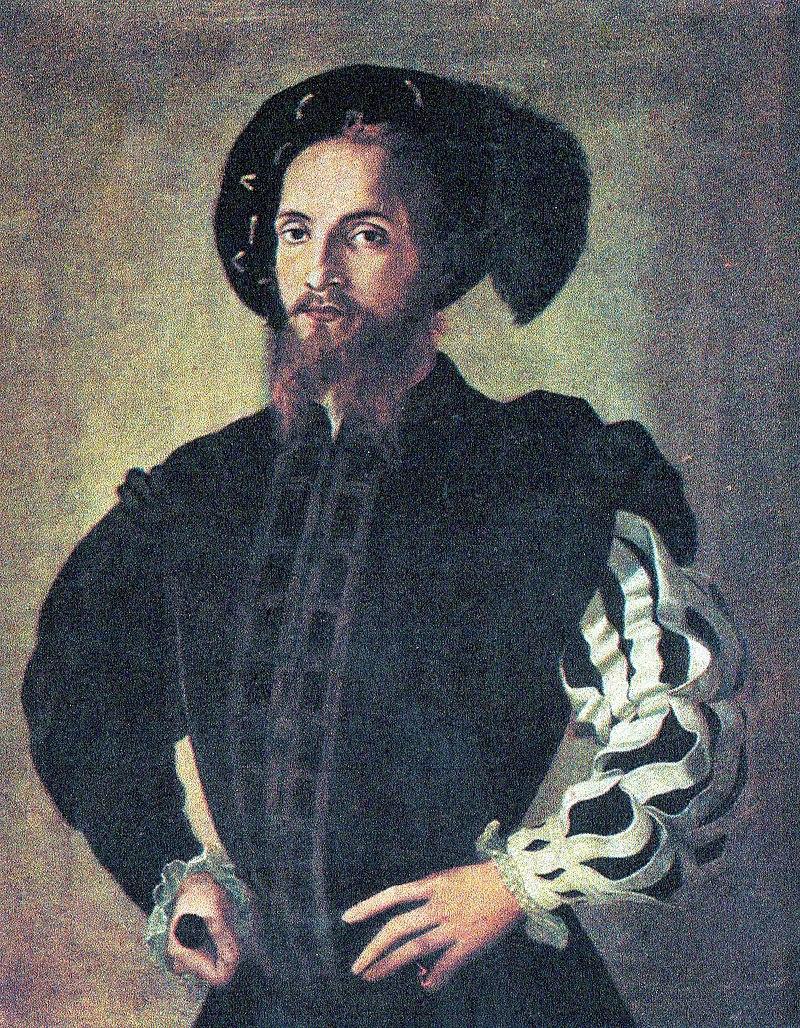 Себастиано Дель Пьомбо (?). Портрет Чезаре Борджиа (?). Изображение из Википедии.