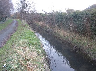 River Poddle - River Poddle upstream of Templeville Road, prior to flowing under it.