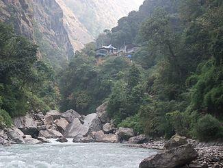 Langtang Khola 4 km above its mouth