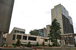 Riverside Plaza - The building housing Cedar-Riverside Community School