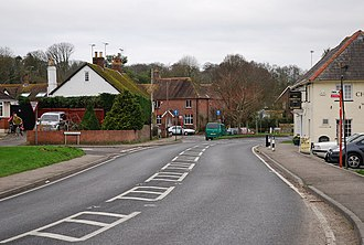Charlton Marshall - Image: Road through Charlton Marshall geograph.org.uk 322782
