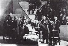 Robert Hinckley's The First Operation Under Ether, painted in 1882.