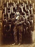 Isambard Kingdom Brunel Standing Before the Launching Chains of the Great Eastern (1857)