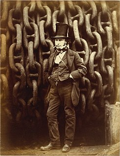 <i>Isambard Kingdom Brunel Standing Before the Launching Chains of the Great Eastern</i> 1857 photograph