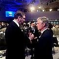 Robert O'Brien and Serbian President Vučić at 2020 WEF.jpg