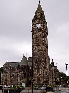 Rochdale Town Hall Grade I listed seat of local government in the United Kingdom