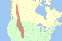 Map of the Rocky Mountains