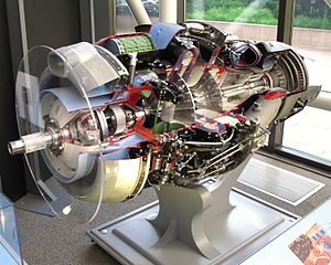 Rolls-Royce Dart - Rolls-Royce Dart Turboprop engine, cut-away display