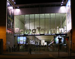 English: Rome, Italy. Roma Termini at night.