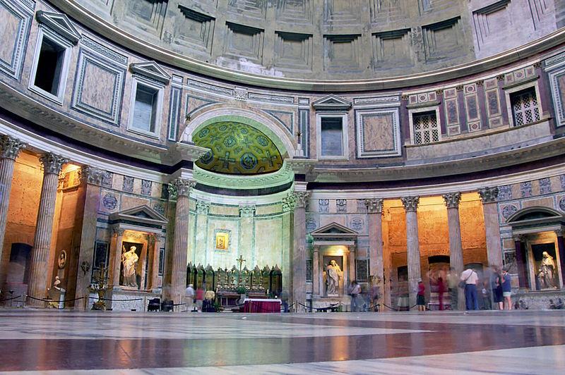 Panteón de Agripa, vista del interior