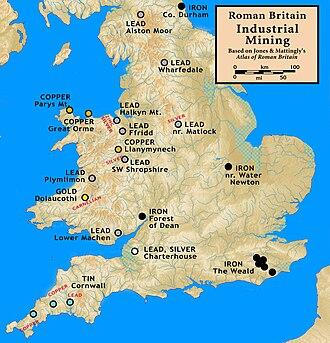 Mining in Wales - Image: Roman.Britain.Mining