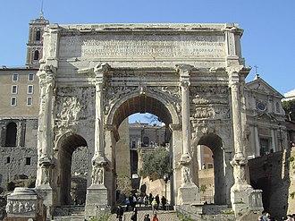 Arch of Septimius Severus - Image: Rome Forum Romanum Archof Septimius Severus 01