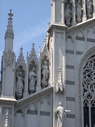 Chiesa del Sacro Cuore del Suffragio - A detail of the façade