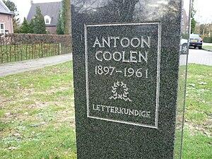Romeinstraat tekst borstbeeld Antoon Coolen P1020891.JPG