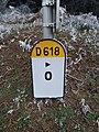 Ronno - Borne km 0 RD 618 (déc 2018).jpg