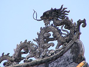 Roof detail, imperial enclosure, Hue