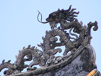 Legendary creature - Symbolic power: a dragon in the Imperial City, Huế, Vietnam