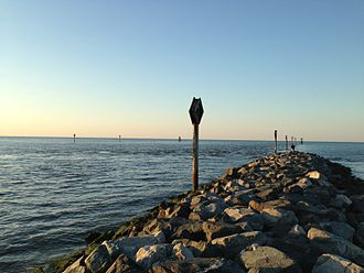 Delaware Bay - Beginning of the Lewes and Rehoboth Canal, at the Roosevelt inlet