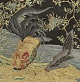 Rooster and hen detail, Herter Brothers - Fire Screen - 1997.58 - Cleveland Museum of Art (cropped).jpg