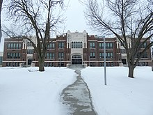 Rossford High School Front Entrance, February 2021.jpg